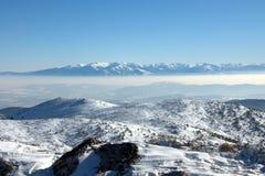 Взгляд от горы Osogovo, Болгарии, Европы Стоковые Изображения RF