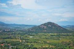 Взгляд от горы Taku, Вьетнам стоковые фото