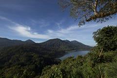 Взгляд от горы Tamblingan Стоковые Фото