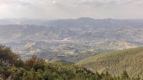 Взгляд от гор Rodna Стоковые Изображения RF