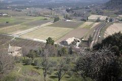 Взгляд от деревни Menerbes; Провансаль Стоковые Изображения RF