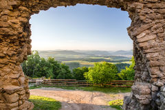 Взгляд от замка Lietava, Словакии Стоковое Изображение RF