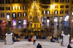 Взгляд от испанского языка шагает в Рим к ноча стоковые изображения rf