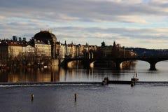 Взгляд от Карлова моста - Праги - чехия Стоковые Изображения