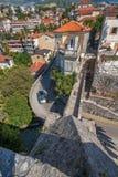 Взгляд от конематки сильной стороны в Herceg Novi, Черногории Стоковое фото RF