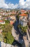 Взгляд от конематки сильной стороны в Herceg Novi, Черногории Стоковые Фотографии RF