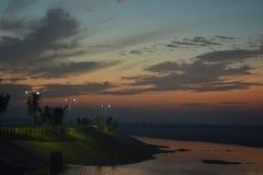 Взгляд от кормки туристического судна Стоковые Фотографии RF