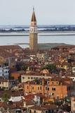 Взгляд от колокольни Венеции, Италии Стоковая Фотография