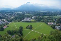 Взгляд от крепости Hohensalzburg, Зальцбурга, Австрии Стоковая Фотография