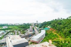 Взгляд от крыши на городке Пхукета стоковое изображение rf
