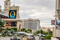 Взгляд от Лас Вегас Боулевард Стоковые Изображения