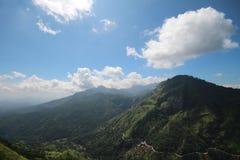 Взгляд от меньшего Sri Pada, Шри-Ланки Стоковое Изображение RF