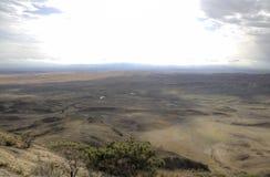 Взгляд от монастыря Udabno Муниципалитет Sagarejo, гребень Gareji Стоковые Изображения
