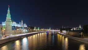 Взгляд от моста на Москве Кремле и акции видеоматериалы