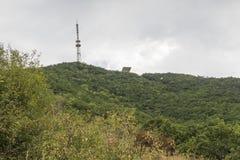 Взгляд от наклона на верхнюю часть Mashuk горы, Pyatigorsk, Россию Стоковые Изображения RF