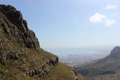 Взгляд от национального парка горы таблицы, перемещение Кейптауна Южной Африки Стоковые Изображения