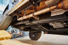 Взгляд от дна автомобиля Стоковое Изображение