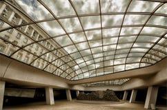Взгляд от нового метро в городе Софии стоковое фото