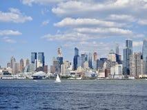 Взгляд от Нью-Джерси горизонта Нью-Йорка Стоковые Изображения