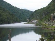 Взгляд от озера Стоковое фото RF