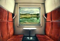 Взгляд от окна поезда Стоковое Изображение RF