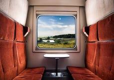 Взгляд от окна поезда стоковые фото