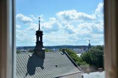 Взгляд от окна церков Стоковое фото RF