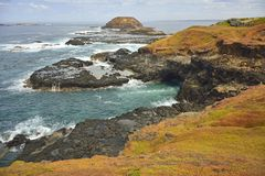 Взгляд от острова Филиппа к Nobbies Стоковое Фото