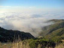 Взгляд от охраны природы Санта-Моника с морским слоем Стоковая Фотография