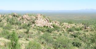 Взгляд от пика Kitt, Аризона Стоковая Фотография