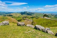 Взгляд от пика Te Mata Стоковые Изображения RF