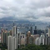 Взгляд от пиковой башни Гонконга Стоковая Фотография RF