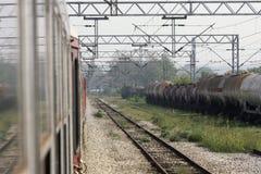 Взгляд от поезда стоковая фотография rf