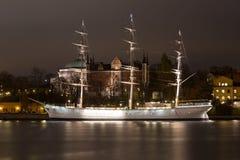 Взгляд от прогулки на паруснике в Стокгольме Швеция 05 11 2015 Стоковое Фото