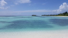 Взгляд от пляжа в Мальдивах Стоковое фото RF