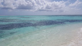 Взгляд от пляжа в Мальдивах Стоковые Изображения