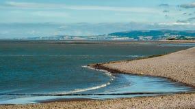 Взгляд от пляжа гонта Стоковое Изображение RF