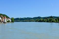 Взгляд от реки гостиницы к passau Стоковое Фото