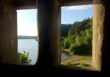 Взгляд от старой каменной тюрьмы Стоковое фото RF