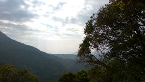 Взгляд от следа Kodachadri Trekking Стоковые Изображения RF