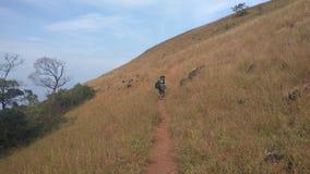 Взгляд от следа Kodachadri Trekking Стоковое Изображение RF