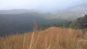 Взгляд от следа Kodachadri Trekking Стоковые Изображения