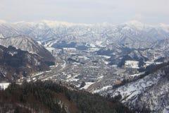 Взгляд от торжественного †«Японии лыжного курорта Yuzawa Стоковые Фото
