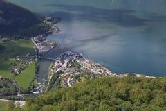 Взгляд от точки зрения Stegastein, Flam, Норвегии Стоковое Изображение RF
