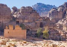 Взгляд от улицы колоннады, Petra, Джордан Стоковые Изображения