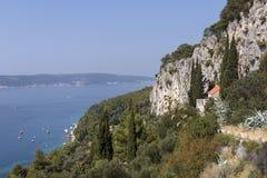 Взгляд от холма Marjan в разделении стоковое фото rf