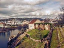 Взгляд от холма Vysehrad стоковые фото