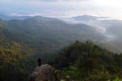 Взгляд от холма Yogyakarta Kukusan Стоковая Фотография