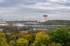 Взгляд от холмов воробья, Москва, Россия Стоковое Изображение