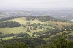 Взгляд от холмов Malvern Стоковое Изображение RF